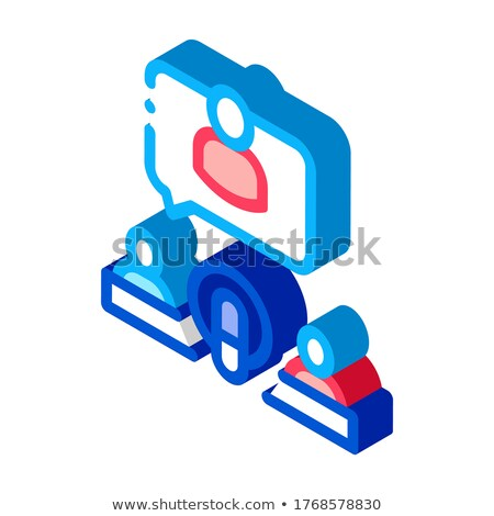 Microphone And Hosts isometric icon vector illustration Stock photo © pikepicture