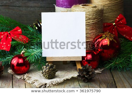 Trees on vintage paper sheet. Stock photo © pashabo