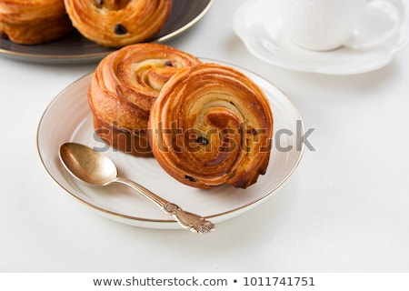 Stockfoto: Pijn · rozijn · koffie · ondiep · cake