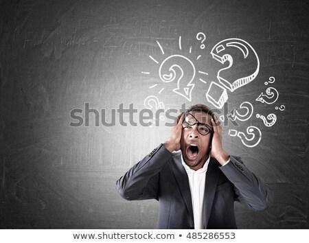 Business man thinking loud Stock photo © poco_bw