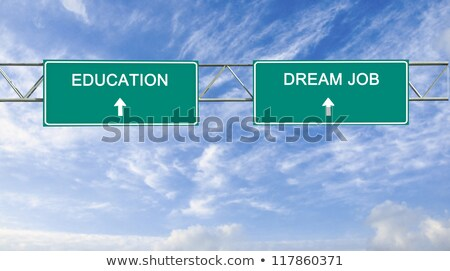 álmok autópálya tábla zöld felhő utca felirat Stock fotó © kbuntu