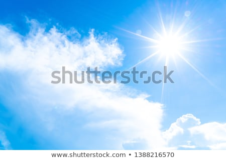 Photo of clouds and sun in the background Stock photo © mastergarry