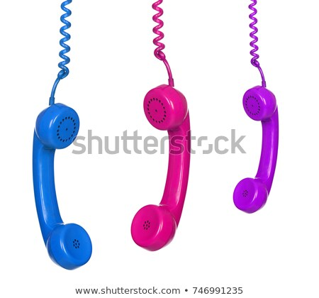 Three vintage phones isolated Stock photo © elly_l