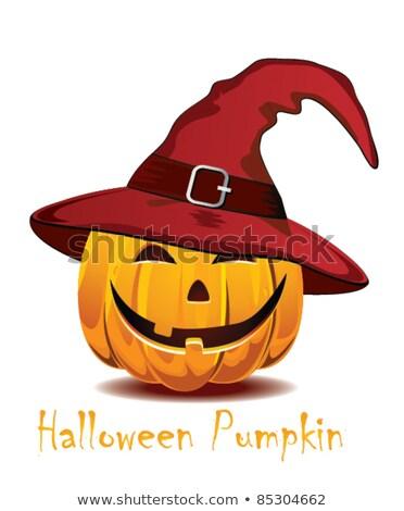 shy halloween pumpkin stock photo © ekapanova