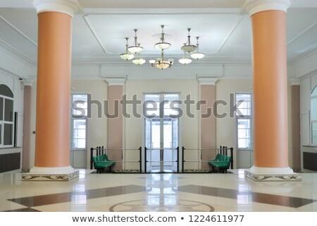 vacío · sala · columnas · ciudad · pared · resumen - foto stock © paha_l