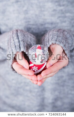 girl with glass ball in hands stock photo © paha_l