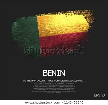 Benin grunge bayrak eski bağbozumu grunge texture Stok fotoğraf © HypnoCreative