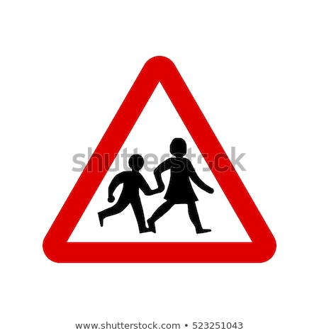Warning Sign - School Children Crossing Stock photo © gwhitton