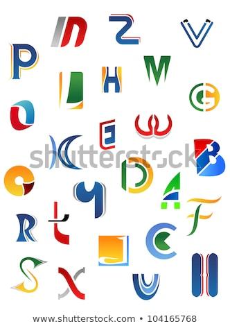 vektor · e · betű · fehér · felirat · levél · olvas - stock fotó © basel101658