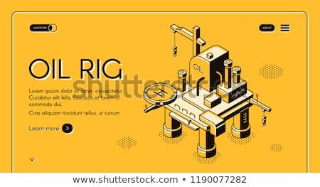 oil platform halftone stock photo © lirch