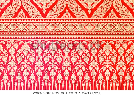 background old paper with pattern of thai architecture stock photo © archipoch