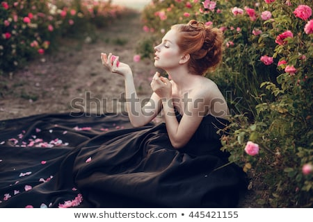 portrait of woman with perfume Stock photo © phbcz