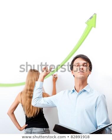 Stockfoto: Volwassen · mannelijke · leraar · uitleggen · financiële · manier