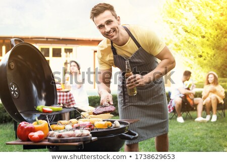 man with a barbecue Stock photo © photography33