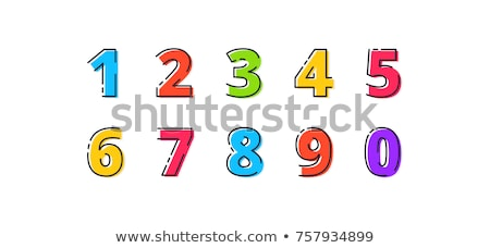 Set of numbers and signs stock photo © RomanenkoAlex