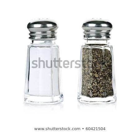 metaal · zout · peper · zilver · keuken · restaurant - stockfoto © marylooo