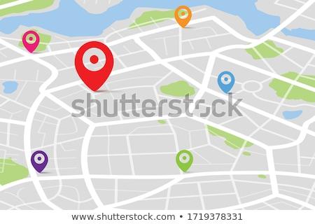 Karte Ziel Smartphone gps Navigation Stock foto © pkdinkar