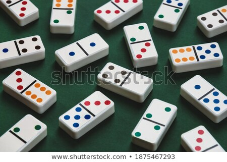 Dominoes in green, concept  stock photo © Andriy-Solovyov