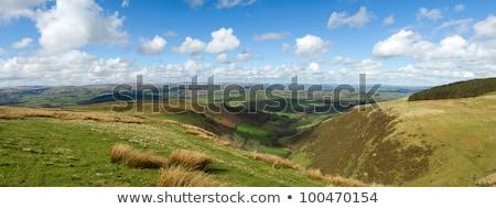 Gales escénico colinas panorama vista azul Foto stock © latent