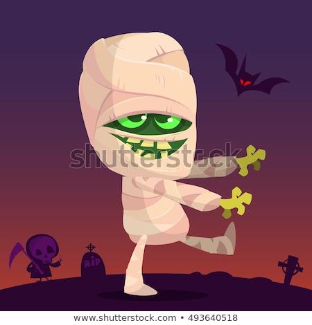 spaceru · grobu · ilustracja · halloween · karty · tle - zdjęcia stock © indiwarm