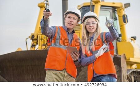 пару дороги рабочие рук улыбка человека Сток-фото © photography33