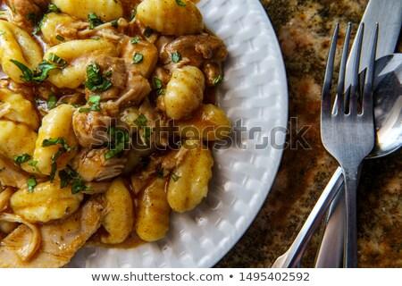 basilico · forcella · mangiare · fresche · patate · dieta - foto d'archivio © M-studio