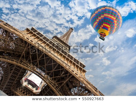 green city landscape with hot air balloons stock photo © wad