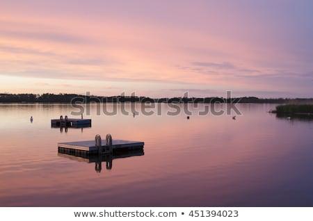Saskatchewan jezioro refleksji Kanada chmury charakter Zdjęcia stock © pictureguy