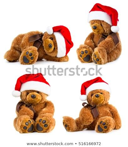 Orsacchiotto natale cap bianco giocattolo orso Foto d'archivio © jirkaejc