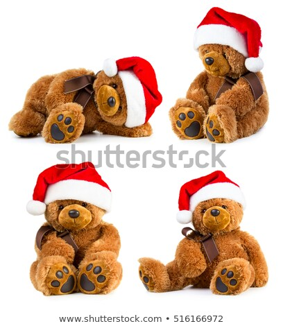 teddy bear and xmas cap Stock photo © jirkaejc