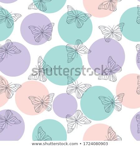 vliegen · stencil · patroon · zwarte · insect - stockfoto © hermione