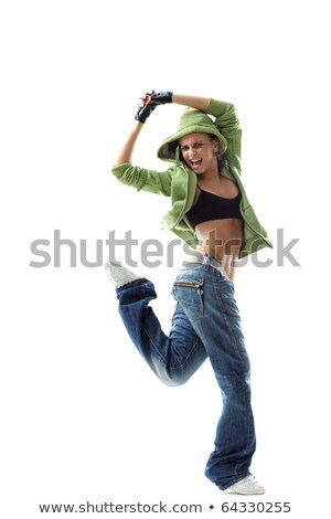 Style moderne danseur posant hurlant studio fitness Photo stock © feedough