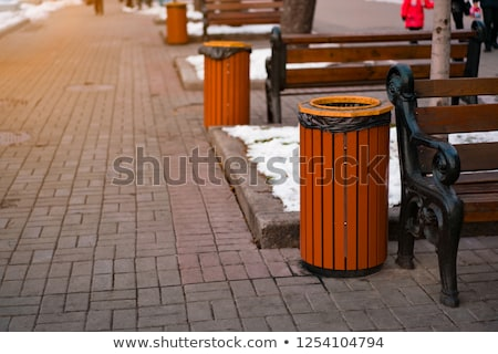 trash · ordures · plein · contenant · rue · sacs - photo stock © magann