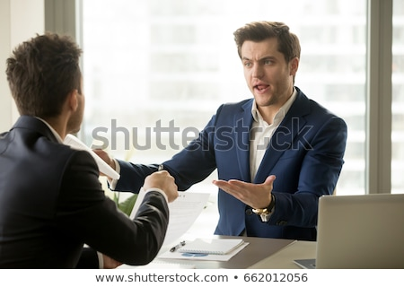dos · empresarios · argumento · negocios · reunión · equipo - foto stock © photography33
