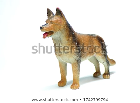 Brown statuette of dog Stock photo © pzaxe