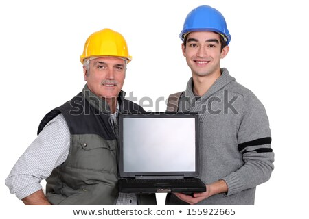 Tradesmen holding a laptop Stock photo © photography33