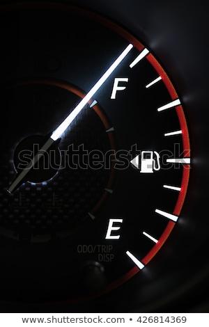 car dash board petrol meter fuel gauge stock photo © experimental