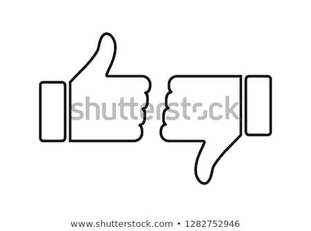 Como aversión iconos pulgar hasta abajo Foto stock © tashatuvango