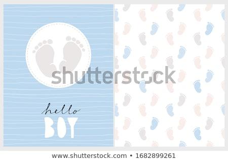 bébé · douche · carte · landau · anniversaire · fond - photo stock © balasoiu