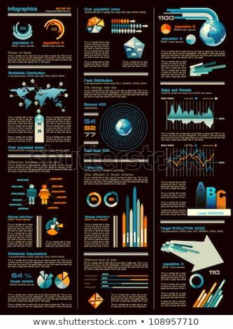 Stock fotó: Infografika · lap · sötét · verzió · terv · elemek