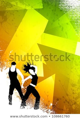 Zumba uygunluk dans poster uzay parti Stok fotoğraf © IstONE_hun