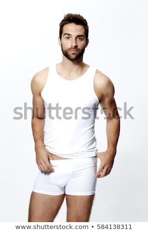 man in white underwear Stock photo © travelphotography