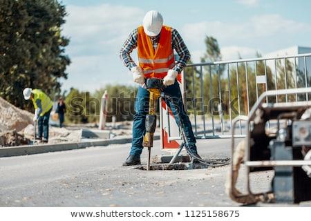 ásó · sóder · út · épület · építkezés · Föld - stock fotó © photography33