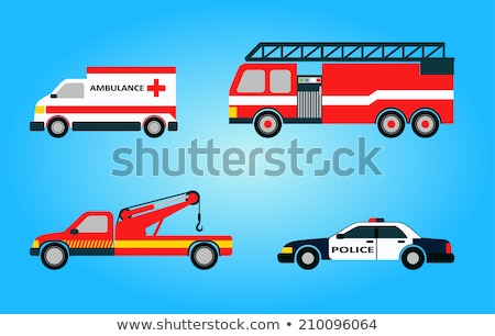 emergency vehicles   vector illustrations stock photo © meshaq2000
