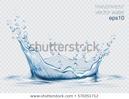 Water splash isolated on blue Stock photo © ozaiachin