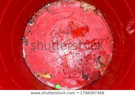 Walgelijk vuile oude Rood oppervlak verf Stockfoto © pzaxe