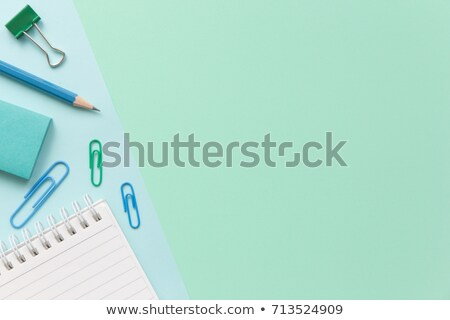 Notebook pen paperclip plastic kaart business Stockfoto © a2bb5s