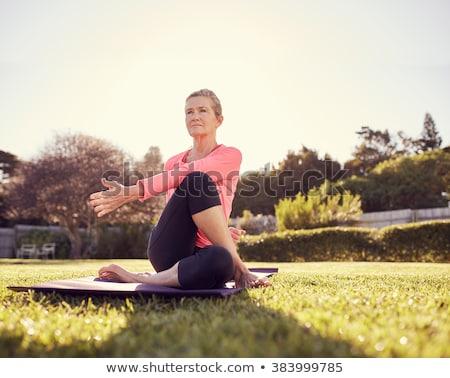 emekli · kadın · bahçe · sağlık · park · kadın - stok fotoğraf © wavebreak_media