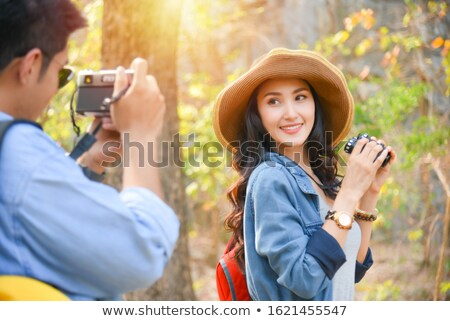 Femme photo copain famille sourire Photo stock © wavebreak_media