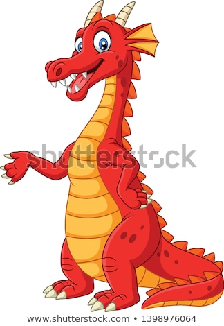 Cute red dragon stock photo © jenpo